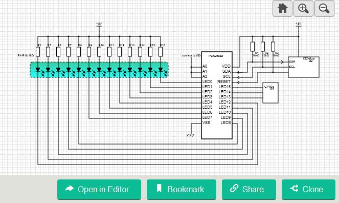 16-Bit I2C-Bus LED Dimmer