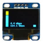 Raspberry Pi OLED Internet Bandwidth Display