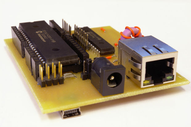 PIC18 Development Board with Ethernet and USB