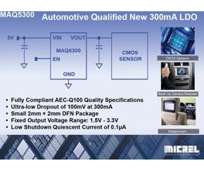 LDO regulator is qualified for automotive designs