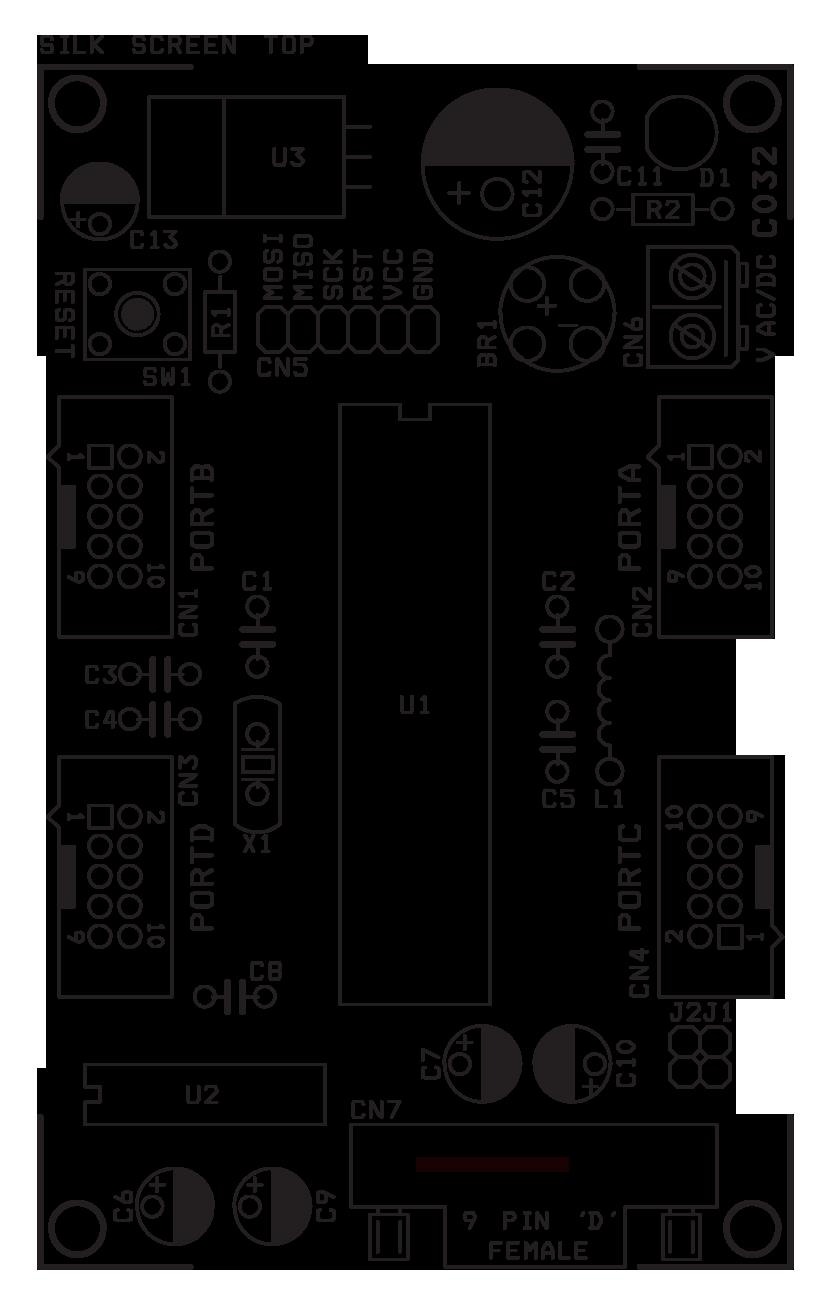 atmega16  32 development board