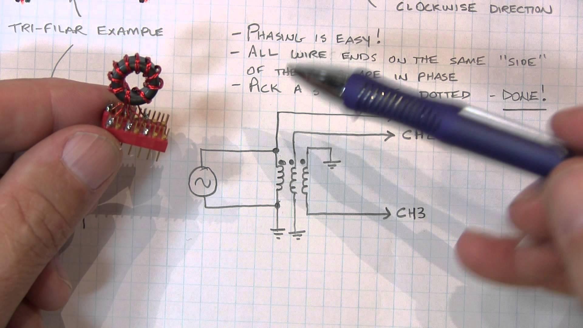 Basics of Phase Dots on Transformer Windings