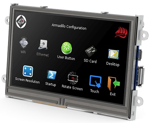 "Do you need a ""Raspberry Pi"" with a display? Try Armadillo 43T"
