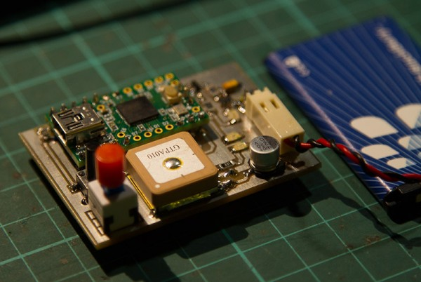 Teensy GPS Logger redesigned in smaller version