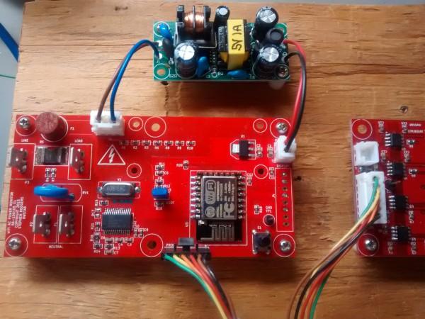 AC energy metering board using an Atmel 90E24 energy metering chip
