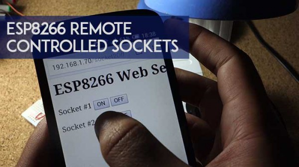 ESP8266 remote controlled sockets
