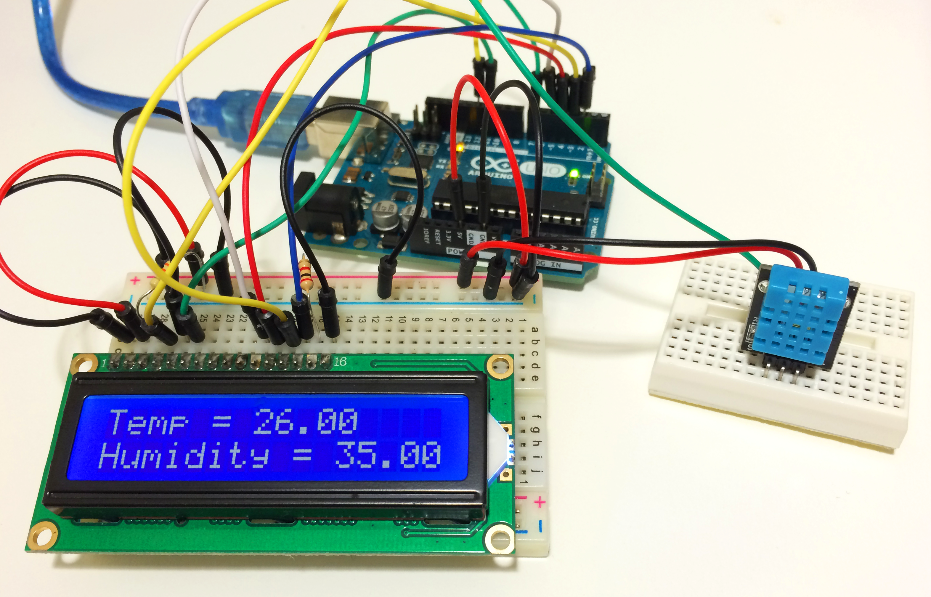 How to Set Up the DHT11 Humidity Sensor on an Arduino ...