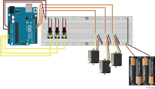 Arduino 5 Minute Tutorials: Lesson 5 - Servo Motors