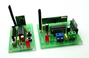RF Remote DC Motor Direction Controller