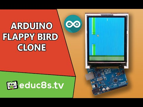 Arduino Project: Flappy Bird game Clone with a 1.8″ color TFT display (ST7735)