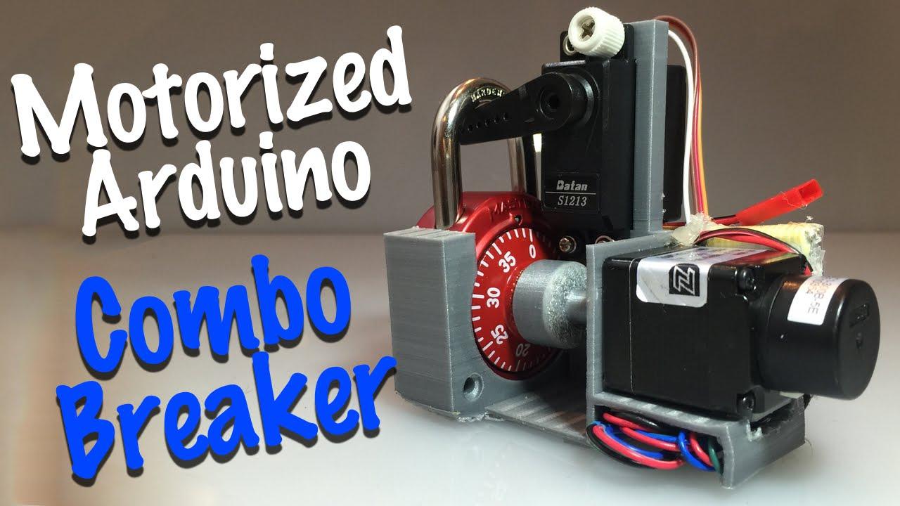 DIY Motorized Combo Lock Cracking Device
