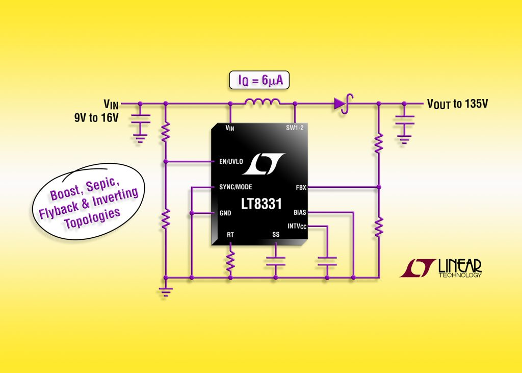 500mA, 140V Boost/SEPIC/Flyback/Inverting  DC/DC Converter with IQ= 6uA