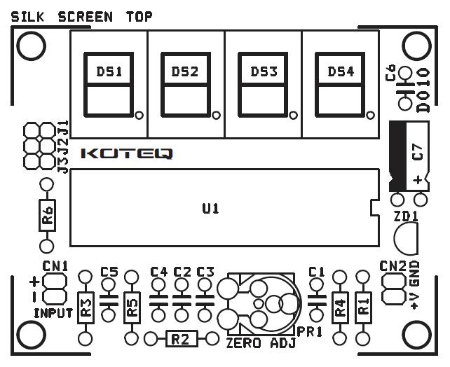 digital panel meter - voltmeter