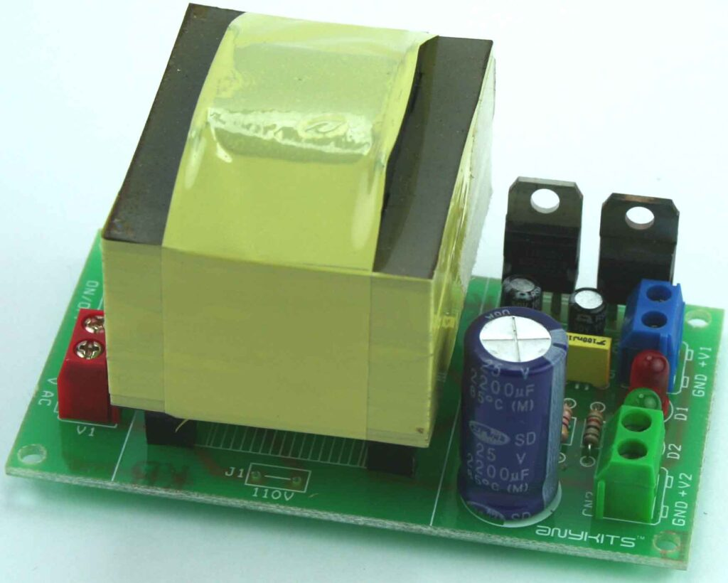 5V & 12V Regulated Power Supply