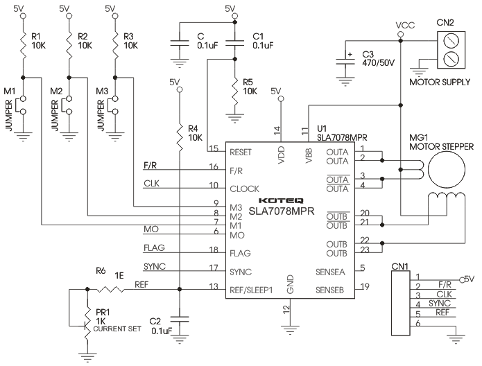 unipolar stepper motor driver circuit diagram free image about