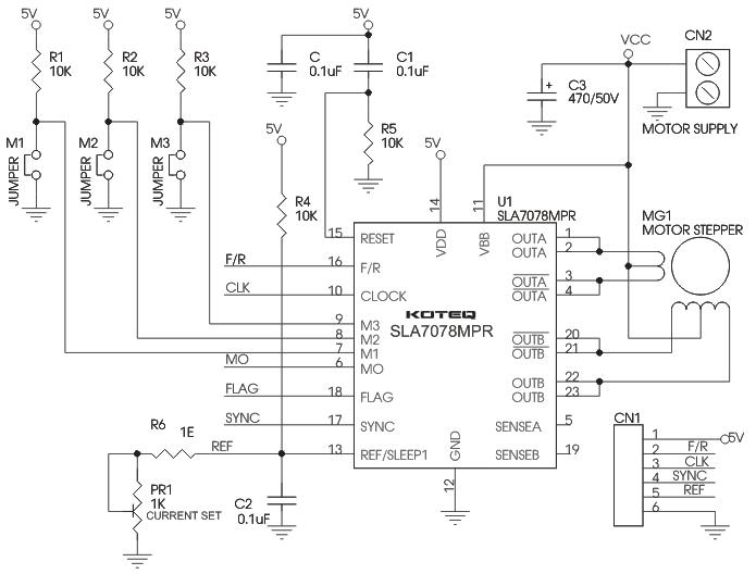 3A Unipolar Stepper Motor Driver - Electronics-Lab