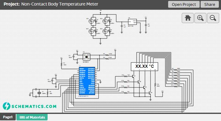 Non-Contact Body Temperature Meter