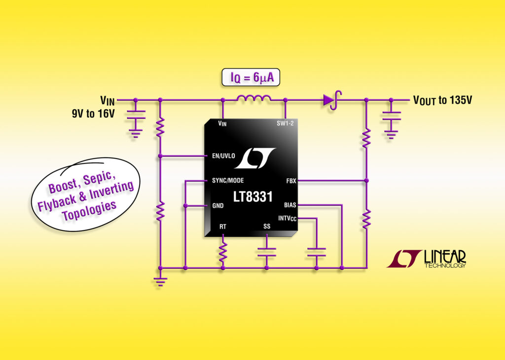LT8331- Low IQ Boost/SEPIC/ Flyback/Inverting Converter