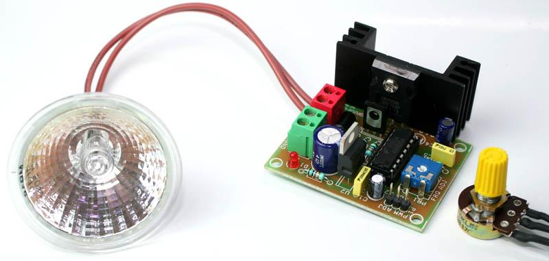 Pwm Halogen Lamp Dimmer Electronics Lab