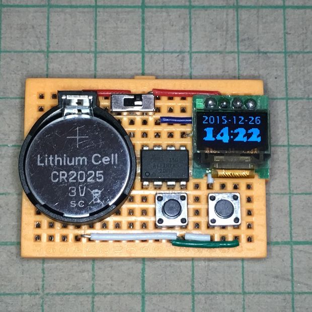 ATtiny OLED Watch Core