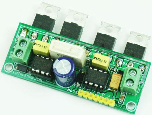 Dc motor ir2104 h bridge electronics lab for Dc motor driver ic