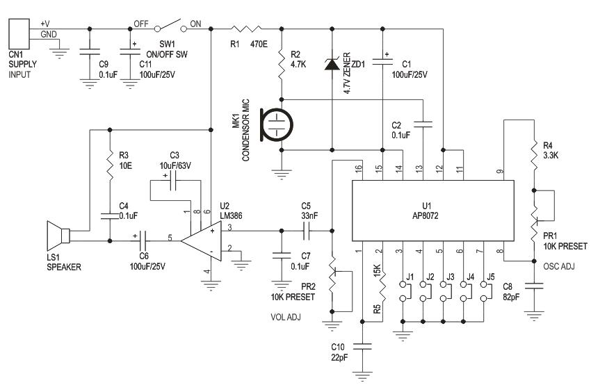 voice changer electronics lab rh electronics lab com Voice Changer App simple voice changer circuit diagram