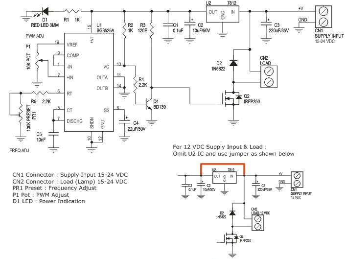 pwm halogen lamp dimmer electronics lab rh electronics lab com 12 Volt Compressor 12 Volt Transformer