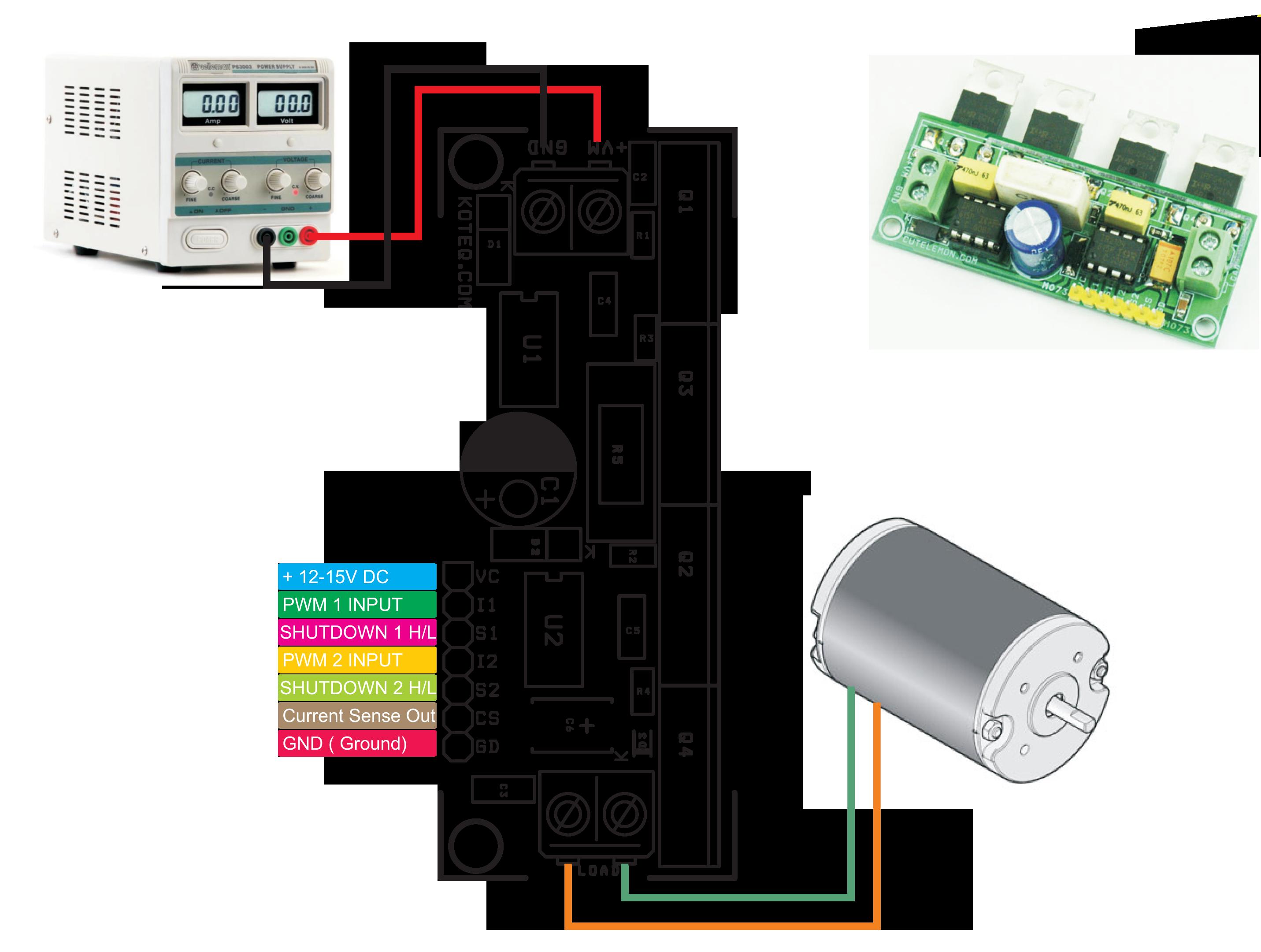 Dc Motor Ir2104 H Bridge Electronics Lab Driver Circuit For Connection Diagram