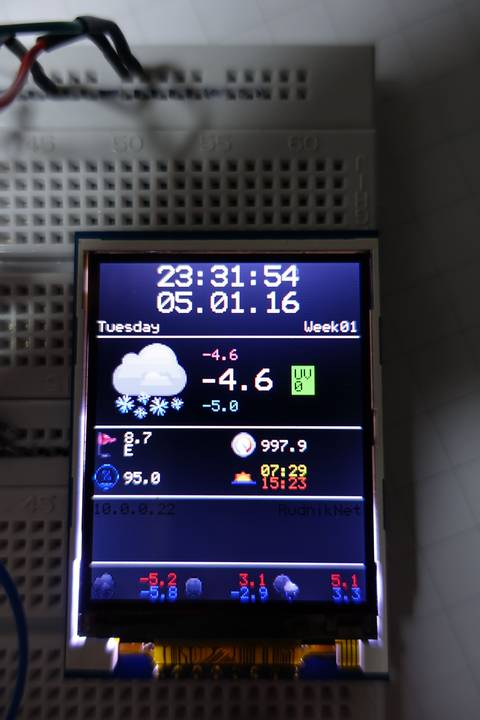 ESP8266 weather display – work in progress