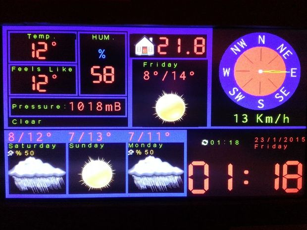 Arduino TFT Forecast Weather Station with ESP8266
