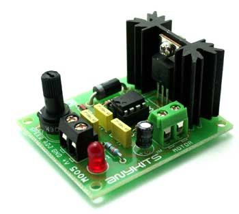 555 Based DC Motor Speed Controller