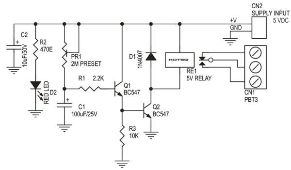 power on delay switch