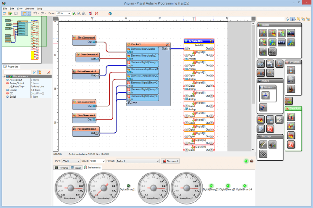 Visuino – visual programming environment for Arduino