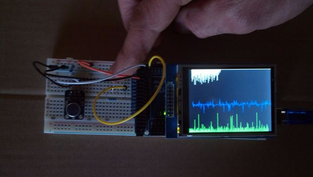 Arduino Analog Signal Graphing on a TFT