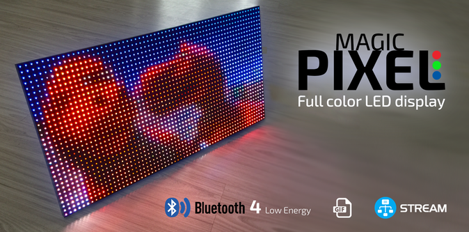 MAGIC PIXEL - Bluetooth full color LED display - Electronics-Lab