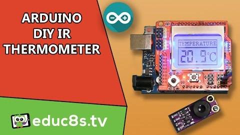 Arduino IR thermometer using the MLX90614 IR temperature sensor