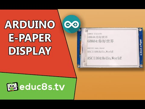 How to use the 4.3′ E-Paper display with Arduino