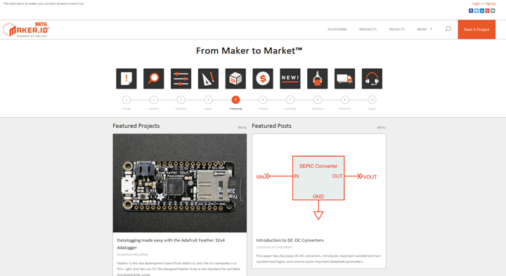 maker.io – a new website for DIY projects