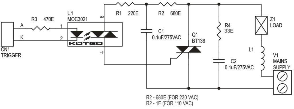 AC Solid state Relay for Inductive Load - Electronics-Lab