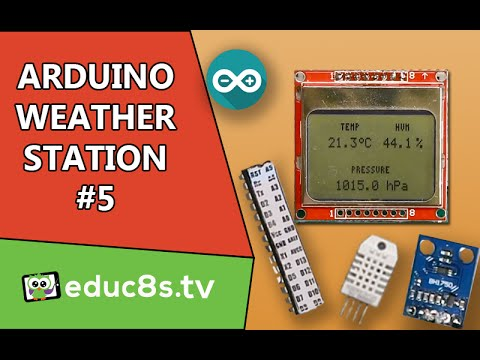 Weather Station Project with ATMEGA328P, DHT22, BMP180, BH1750 and a Nokia 5110 LCD