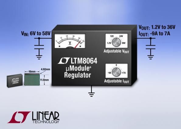 LTM8064 – 58VIN, 6A CVCC Step-Down μModule Regulator