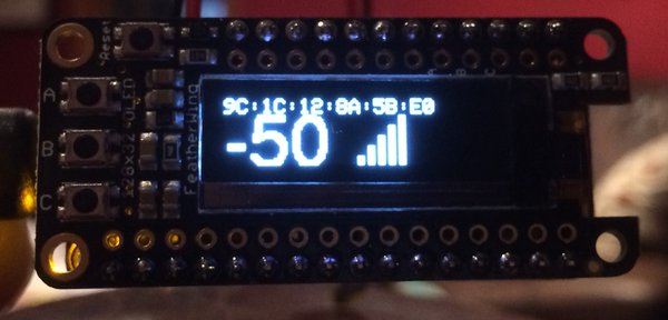 Signal strength indicator for the ESP8266