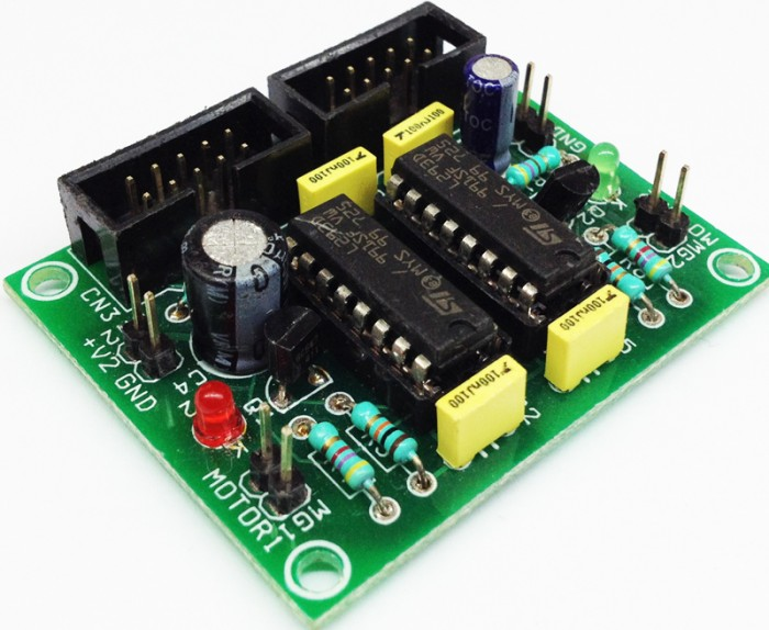 Dual-DC-Motor-driver-for-robot-using-L293D-DC001