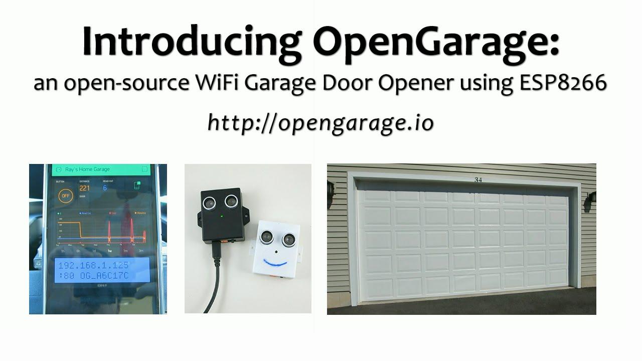 Opengarage Open Source Wifi Garage Door Opener