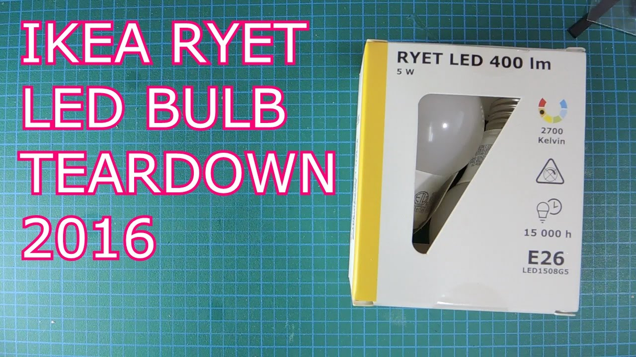 ryet ikea led bulb teardown electronics lab. Black Bedroom Furniture Sets. Home Design Ideas