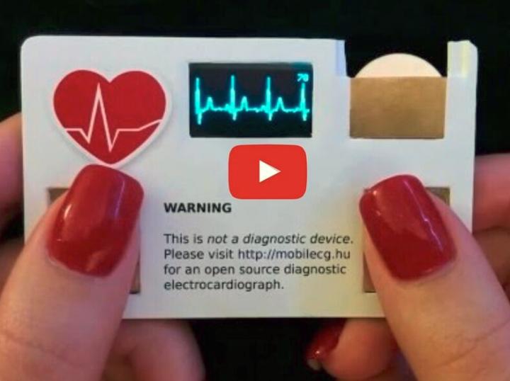An Electrocardiograph business card