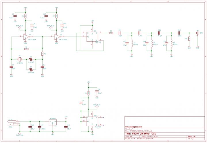 28.8MHz TCXO with +-1ppm Stability