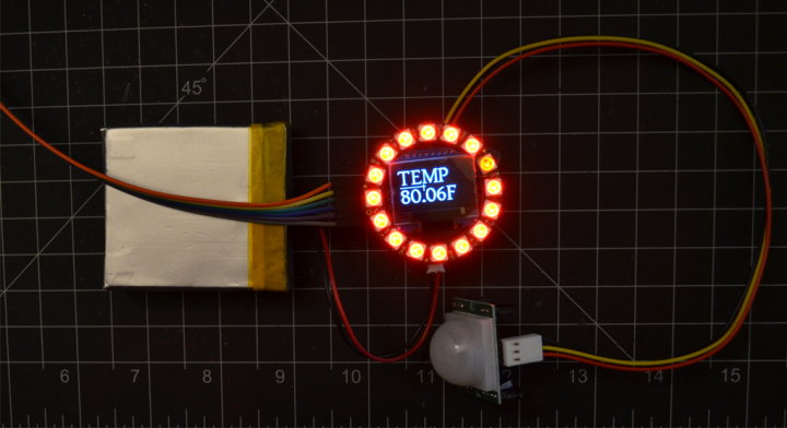 Temperature Display with NeoPixel Ring Color