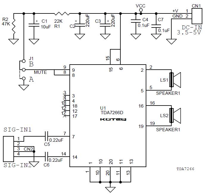 3W-Stereo-Amp-TDA7266D-SCH