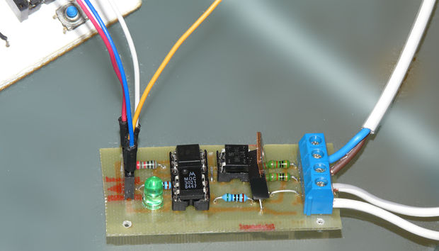 Arduino controlled Triac light dimmer